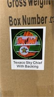 *New* Texaco Sky Cheif Neon Sign w/ Backing-