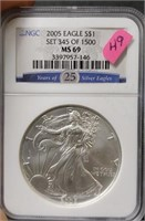 Monday, May 18th 400 Lot Collector Coin & Currency Auction