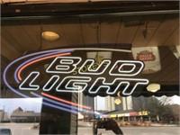 "Illuminated Bud Light Sign ~30"""