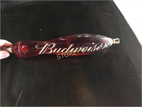 Red Budweiser Tap Handle
