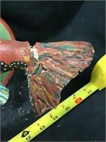 Michael Hapner folk art, some damage on tail,