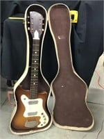 Electric guitar, unmarked with case