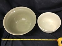 USA truck crock bowl and small bowl