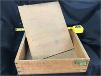 Paul Mason Champagne crate, Wooden