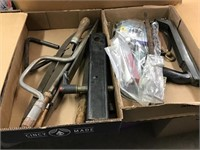 Files, hitch, miscellaneous hardware, two flats