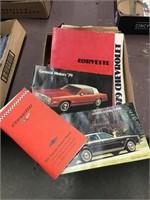 Car manuals including Corvette, General Motors