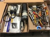 Sander, torch, stapler, door hardware set,
