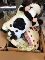 Bedding, massage cow, decorative Christmas