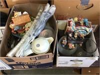 Musical figurine, Coors light mug, coffee pots,