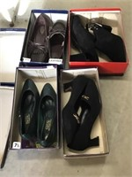 Four pairs of women's shoes size 7 1/2, One pair