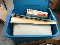 Mattress cover, placemats, storage bags, tote,