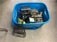 Radio, motor, small TV, heater, guitar shaped