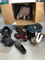 Men's shoes and boots size 12 and Coleman lunch