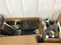 Bathroom supplies, scales, belts, radio, Bibles,