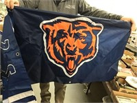 Indianapolis Colts and Chicago Bears flags,