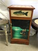Fishing decor stand, 26 x 13 x 9 1/2