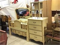 Four piece bedroom suit including Headboard for
