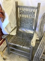 Bentwood rocker and wooden  rocker