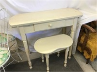 Desk 34 1/2 x 29 x 13 and stool