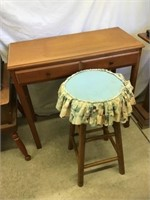 Desk 32 1/2 x 15 x 30 rough condition and