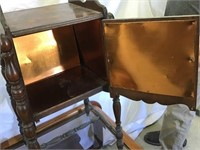 Copper lined smoking stand