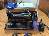 Singer sewing machine in case