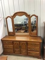OakMirrored  dresser Sumter South Carolina 70 x