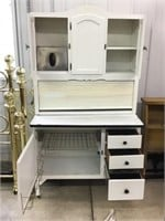 Seller style cabinet, enamel top and flour bin ,