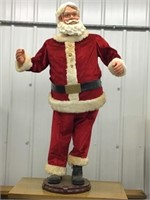 Large animated Santa 58 inches tall, works