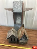 Birdfeeder and two bird houses