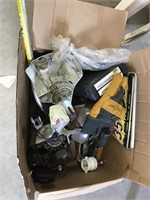 Weedeater parts, goggles, license plates,