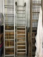 12 foot aluminum extension ladder, Bent feet