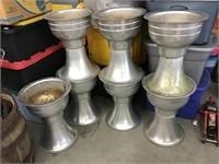 Seven aluminum planters 21 x 16