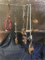 Pulleys,  Scale, Candle Holder, Meat Hooks, Group