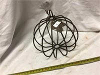 Metal Art Including Galvanized Sunflower And