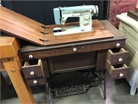 Brother Sewing Machine In Cabinet,34 X 17 1/2 X