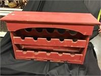 Wine Rack, Wooden, 30 X 10 1/2 X 17 1/2