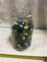 Marbles In Ball Jar