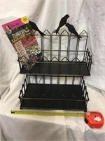 Metal Rack With Birds And Flowers Magazine Rack
