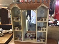 Doll House, 45 X 44 1/2 X 10, And Contents Of