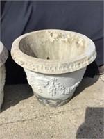 Large Cement Planter, Some Cracks, 24 X 20