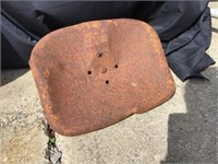 Tractor Seat, Rusted