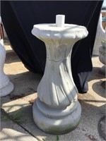 Water Fountain Base, Cement, Cracking, 27 X 13