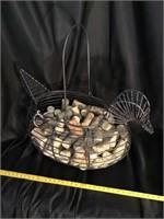 Decorative Metal Bird Carrier With Wine Corks