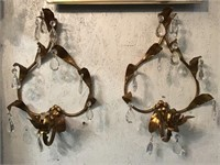 To Wall Hanging Candle Holders With Prisms