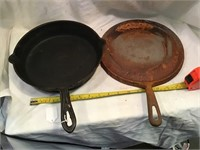 Cast-iron Griddle Mexican Fiesta, And Unmarked