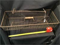 Metal Wire Tote, 23 X 9 1/2