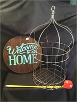 Welcome To Our Home Wooden Sign 15 Inch, And Wire