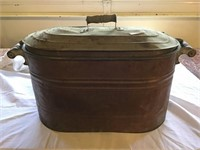 Copper Boiler, Rust, And Rough Metal Steel Lid