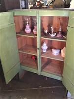 Green Cabinet, No Contents, 44 X 61 X 18